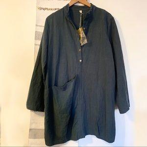 Dresses & Skirts - Boutique • Green Button Front Dress